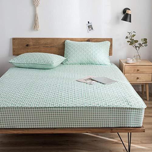haiba Sábana bajera ajustable para cama individual, 100% algodón puro con diseño extra profundo, sábanas bajeras bajeras individuales, 150 x 190 + 25 cm