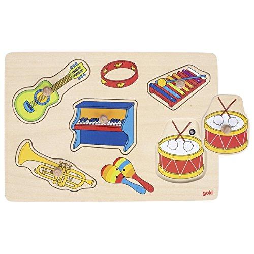 Goki  Puzzles de Madera, Los Instrumentos Musicales, Multicolor (57520)