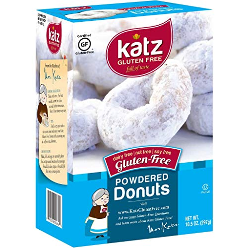 Katz Gluten Free Powdered Donuts | Dairy Free, Nut Free, Soy Free, Gluten Free | Kosher (6 Packs of 6 Donuts, 10.5 Ounce Each)