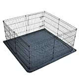 2PCS Non-Slip Dog Pads Large 54' x 54', Washable Puppy Pads with Fast Absorbent, Reusable, Waterproof for Training, Whelping, Housebreaking, Incontinence, Travel, for Playpen, Crate, Kennel