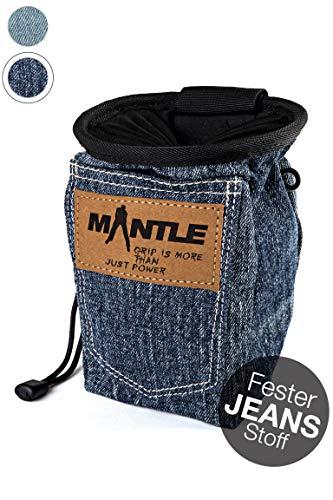 Mantle - Chalkbag Kreidebeutel in Jeans dunkel für Kletterkreide zum Bouldern und Klettern