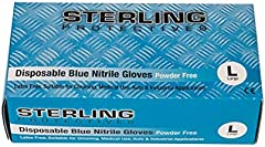 Guantes desechables de nitrilo azul de alta calidad, 100 unidades, sin polvo, AQL 1,5 - Guantes prémium de Gocableties, azul, Large - Size 9
