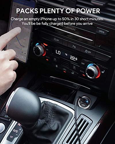 AUKEY Autoladegerät USB C 30W Mini Dual USB C Zigarettenanzünder mit AiPower Technologie für iPhone 12 Mini Pro Max 11 XS XR X 8, iPad Air/Pro/Mini, Samsung, HTC, LG und andere Geräte