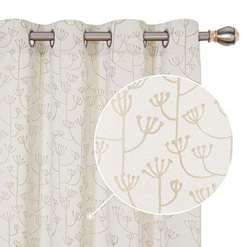 cortinas salon beige y marron
