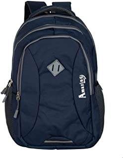 AB Amazing Bag 34 Ltrs Casual Waterproof Laptop Bag for Men Women Boys Girls/Office School College Teens & Students with Free RAIN Cover (18 Inch) (Navy)