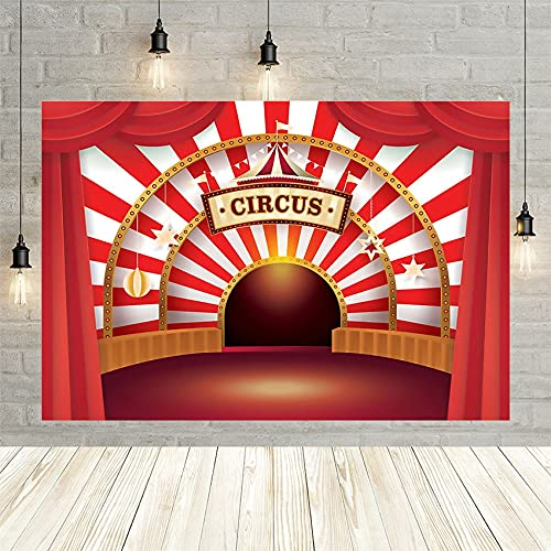 Fondos de fotografía Baby Shower recién Nacido cumpleaños Circo Fondos temáticos para Estudio fotográfico Accesorios de decoración A1 10x7ft / 3x2,2 m