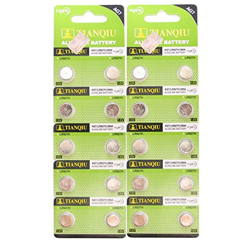 Tianqiu AG7 LR927 SR927SW LR57 SR927 Button Cell Batteries [20-Pack]