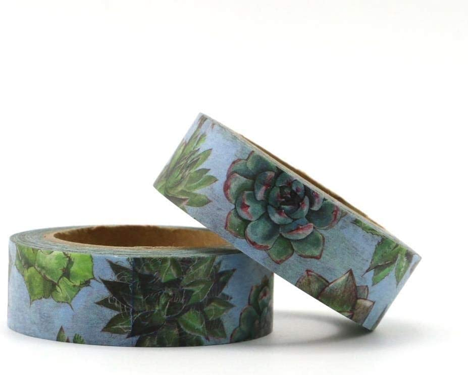 1.5mm10m Succulent plants Decorative Los Angeles Mall Adhesive Tape Popular products Masking Washi