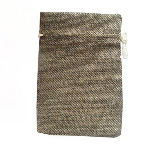 VORCOOL Pochette Cordon Cadeau Sacs Lin Jute Bag Bijoux Marron Paquet DE 10