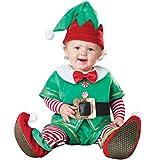 Odziezet Navidad Conjunto Bebé Niño Niña Papá Noel Elf Reno Muñeco de Nieve Ropa Disfraz 4 PCS...