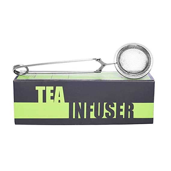 TGL Perfect Pincer Ball Shaped Stainless Steel Loose Leaf Tea Infuser/ Strainer with Squeeze Handle  Mesh Infuser (Tea Ball Infuser, Tea Strainer, Ball Strainer, Tea Filter, Tea Maker)