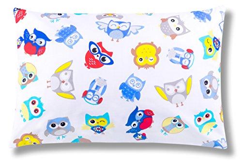 Amilian Decorative Cushion Cover Pillowcase Only 40 x 60 cm Multi-Coloured/Grey Owl Print