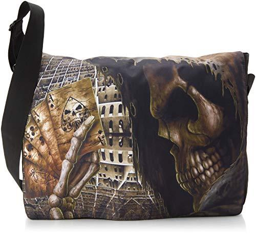 Luxburg® Design Umhängetasche Tasche College Daily Bag 15,6 Zoll, Motiv: Spiel mit dem Tod