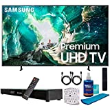 SAMSUNG UN82RU8000 82' RU8000 LED Smart 4K UHD TV (2019) w/Soundbar Bundle Includes, Deco Gear Home Theater Surround Sound 31' Soundbar, Screen Cleaner, 2X HDMI Cable and 6-Outlet Surge Adapter