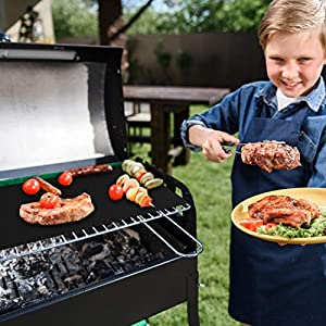EXTSUD BBQ Grillmatten, 5er Set BBQ Antihaft Grill-und Backmatte Wiederverwendbar PFOA-Frei - Toll über Kohle, Gas und Weber Style Grills - Perfekt für Fleisch, Fisch und Gemüse 40x33 cm MEHRWEG