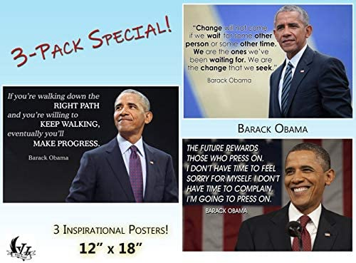 Black History Month Posters 3 Pack Barack Obama Quote Poster Classroom Posters Growth Mindset product image