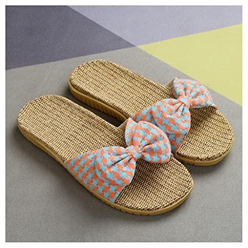 Zapatilla Casa para Mujeres Hombres Open Toe 2021 Nuevo Mejorado Lino Zapatillas Casa Mujer Familia Slippers Zapatillas Pantuflas Mujer Verano Sandalias de Piso Zapatos