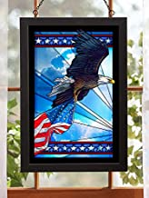Wild Wings Our Glory - Bald Eagle Stained Glass Art by Anthony Padgett