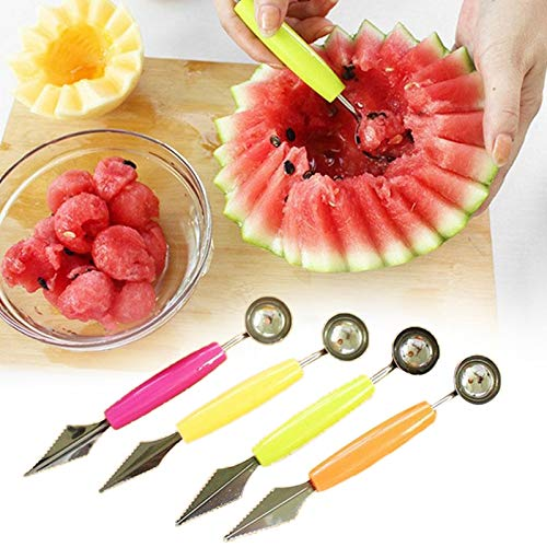 Aalborg125 Creative Fruit Carving Knife Watermelon Cutter Baller Spoon Baller Kitchen Tool Fruit Decorating Cut Round Scoop Gadget