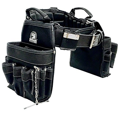 TradeGear MEDIUM 31-35' Electrician's Belt & Bag Combo – Heavy Duty Electricians Tool Belt Designed for Maximum Comfort & Durability – Ideal for All Electricians Tools – Partnered w/GatorBack