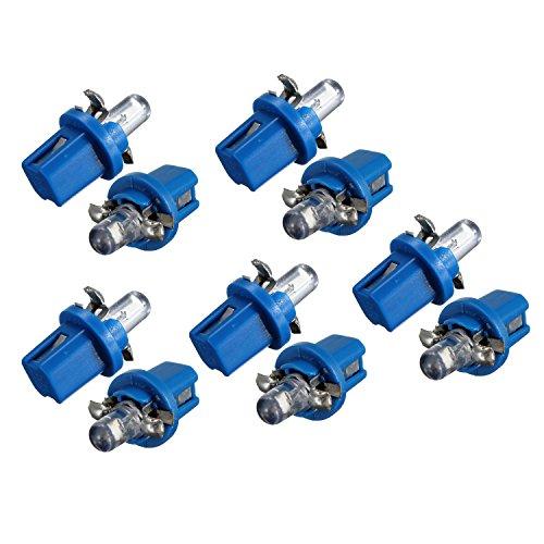 OVBBESS 10x LED bombilla medidor DASH B8-5D T5 lámpara con soporte azul TUNING auto coche luz