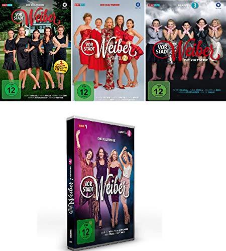 Vorstadtweiber - Staffel 1+2+3+4 im Set - Deutsche Originalware [12 DVDs]