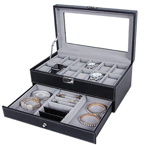 Lee Libre Relojes Caja Reloj Almacenamiento para 12Relojes & Joyero Joyero