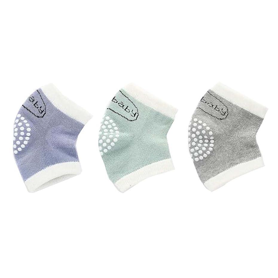 宣伝名前で謝るアンチスリップ弾性調整可能な膝パッド赤ちゃんの膝パッド3のセット