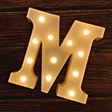 MUMUXI LED Marquee Letter Lights 26 Alphabet Light Up Marquee Number Letters Sign for Wedding Birthday Party...
