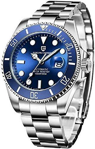 Reloj Pagani Design para Hombres Movimiento japoneses Relojes Impermeables Azul muñeca...