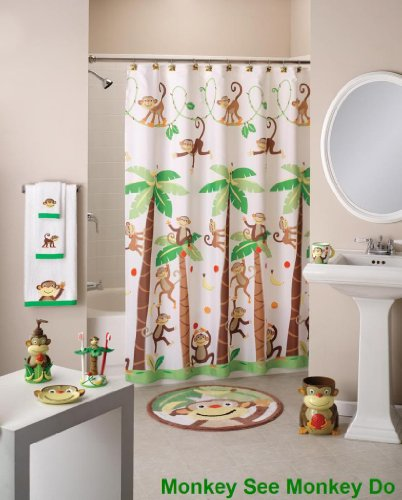 Monkeys and Trees Shower Curtain