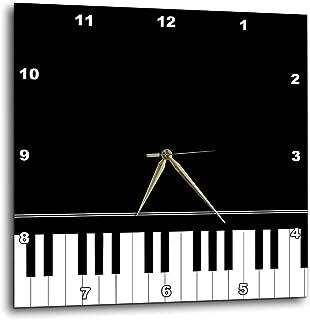3dRose Black Piano Edge - Baby Grand Keyboard Music Design f