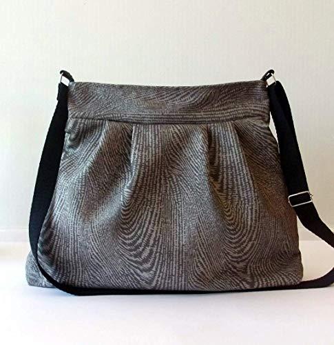 ¡¡Oferta!! - Bolso bandolera 'Animal print', hecho a mano en lona y algodón