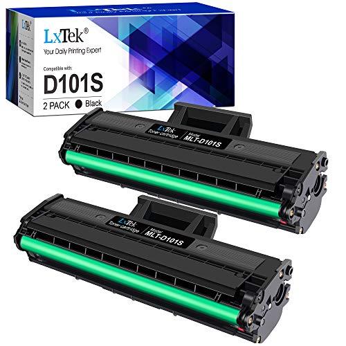 LxTek MLT-D101S Compatible para Samsung D101S MLT-D101S Cartuchos de tóner para Samsung SCX-3405W SCX-3405 SCX-3405FW SCX-3400 ML-2165W ML-2165 ML-2160 ML-2168 ML-2162 SF-760P (2 Negro)