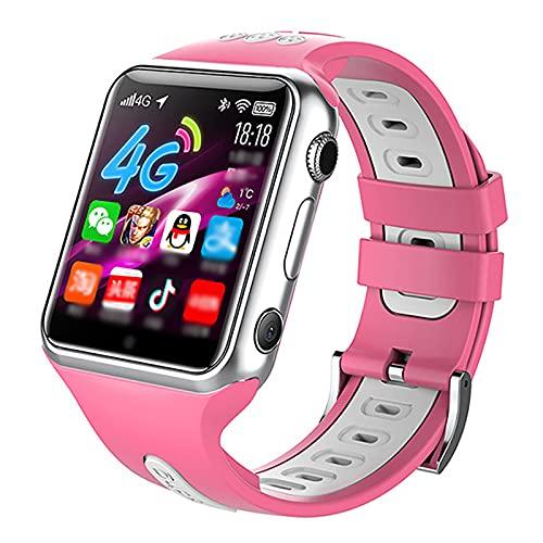 URJEKQ Smartwatch 1.54Inch Reloj Inteligente Pulsera Actividad con Fitness Tracker,Cronómetro Calorías Podómetro IP67 Impermeable Reloj de Fitness para Mujer Hombre Niño,Rosado