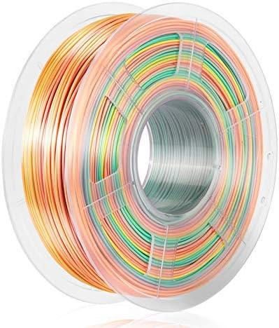 SUNLU Rainbow Silk PLA 3D Printer Filament 3D Printing PLA Filament 1 75mm 1kg 2 2LBS Spool product image