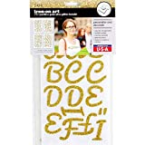 S.E.I 1.75-inch Pacifico Glitter Iron-on Letter Transfer, Gold, 4-Sheets