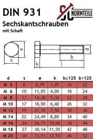 Eisenwaren2000 Gewindeschrauben Maschinenschrauben mit Teilgewinde - DIN 931 rostfrei M10 x 110 mm Sechskantschrauben mit Schaft 100 St/ück ISO 4014 Edelstahl A2 V2A
