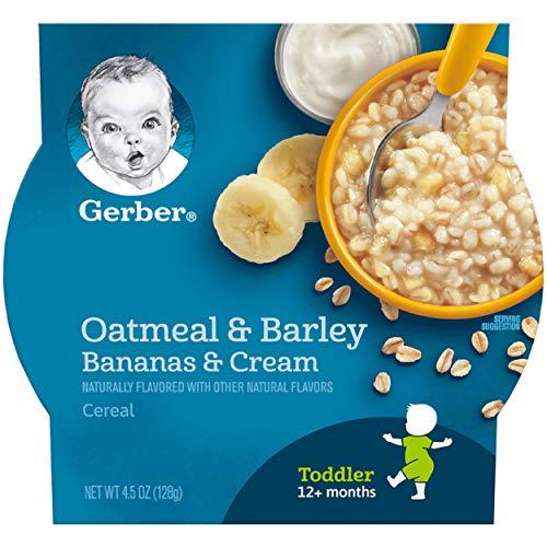 Gerber Oatmeal & Barley, Bananas & Cream Cereal, 4.5 Ounce, 8 Count