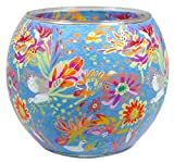 Himmlische Düfte Geschenkartikel GmbH Dream of Blossom Windlicht, Glas, bunt, 11x11x9 cm