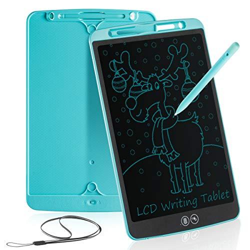 Tableta de Escritura LCD 12 Inch Aprendizaje Escribir Borrado Parcial Almohadilla de Dibujo Doodle Inteligente para Oficina Escuela o en Casa Tableta de Gráfica Portátil para Niños y Adultos (Azul)