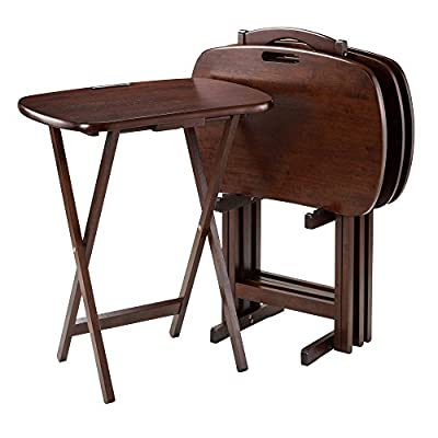 """Winsome Lucca Snack Table, 22.83"""" W x 25.79"""" H x 15.67"""" D, Brown"""