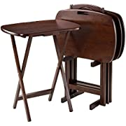 """Winsome Wood 94577 Lucca Snack Table, 22.83"""" W x 25.79"""" H x 15.67"""" D, Brown"""