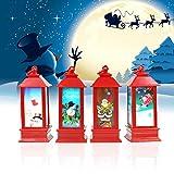 Suprcrne Luz de Noche LED, Cute Santa Claus DIY Mood Light Lanterns Lámpara de Mesa Accesorios Portátiles de Decoración para Fiestas en el Hogar Decorativo