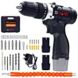 Best Cordless Drills - Cordless Drill Driver, GOXAWEE Cordless Screwdriver Drill Set Review