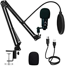 VEYDA USB Condenser Microphone - Professional Grade Plug & Play Desktop Cardioid Condenser Mic with Boom Arm and Shock Mount for Home Studios/Podcasts/Gaming/Livestream/TikTok/YouTube