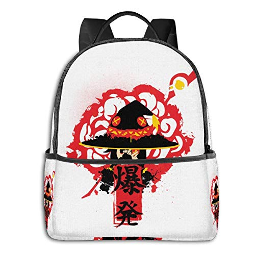 IUBBKI Mochila lateral negra Mochilas informales Anime & Explosion Magic! Classic Student School Bag School Cycling Leisure Travel Camping Outdoor Backpack