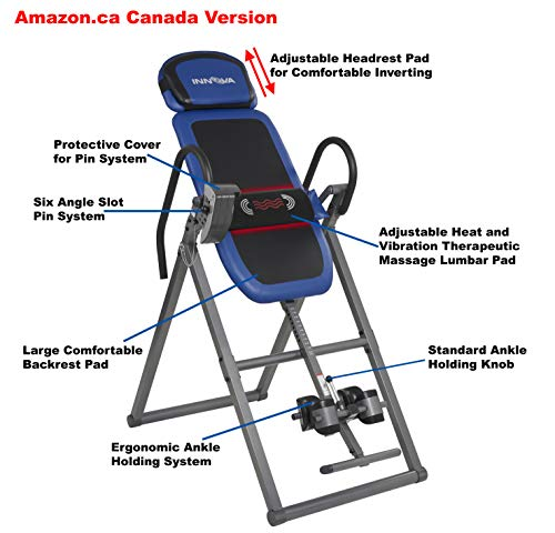Product Image 11: Innova Health and Fitness ITM4800 Advanced Heat and Massage Therapeutic Inversion Table