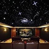 32W Upgrade Version Coloful Twinkle LED Fiber Optic Star Ceiling Kit Light Mix 800 Strand Fiber Optical Cables (0.75mm+1mm+1.5mm) 13.1ft Long Cinema/car Fiber Optic Lights Decoration
