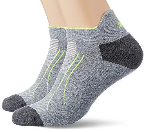 PUMA Herren Performance Train Sneaker 2P Socken, Grey Melange, 43-46